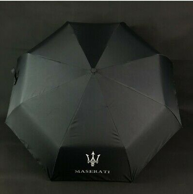 Windproof Automatic  Maserati Logo Print Folding Umbrella For Maserati Car