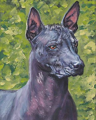 Chihuahua Mexican Hairless Dogs Pet Dog Art Painting Print On Real