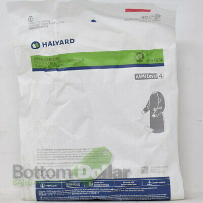 Halyard 44674 30/Case Breathable Surgical Gown With Towel AAMI L4 XL Exp:9-20-21