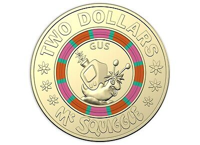 2019 Australia Mr Squiggle and Friends $2 Coin - Gus