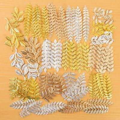 CRAFT BUDDY Forever Flowers METAL LEAVES & BRANCHES 72 Pieces GOLD Copper Silver