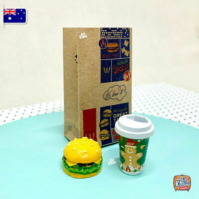 Mini McDonald's Set 3 - Great Addition to Coles Little Shop 2! 1:12 Mini Brands