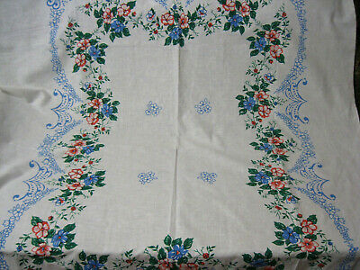 Russian Vintage Tablecloth, Large, 180x145cm, Flax+Cotton, USSR