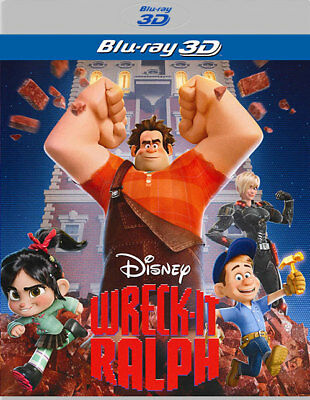 Wreck-It Ralph - Disney (3D Blu-ray, DISK ONLY)