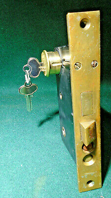 SAGER #67 ENTRY MORTISE LOCK w/CYLINDER & KEYS:  RECONDITIONED (10286)