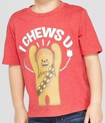 Star Wars Toddler Boys Chewbacca Short Sleeve Shirt Red 2T NWT