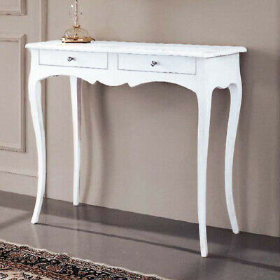 Consolle In Legno Shabby Chic Bianco Opaco Mod April