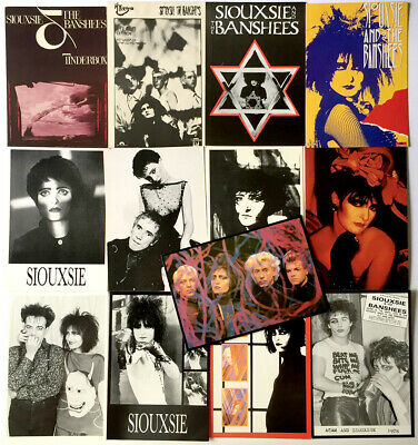 13 postcards SIOUXSIE & THE BANSHEES Vintage 80's