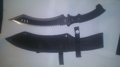 """16"""" Hunt-Down Full Tang Hunting Knife with BlackRubber Handle"""