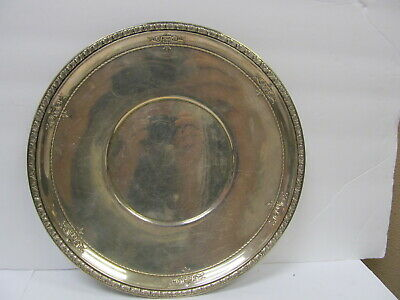 """Wallace Silversmiths Tray Sterling Silver # 4275-9 10 1/4"""" W V Good Cond"""