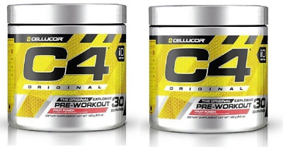 2 CellucorC4 OriginalExplosive PreWorkout 30Servings FruitPunch+Watermelon