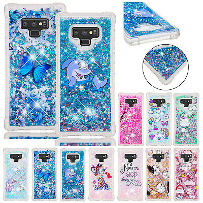 For Samsung Galaxy J4 J6 Plus Case A70 A50 A20 A10 Bling Quicksand Rubber Cover