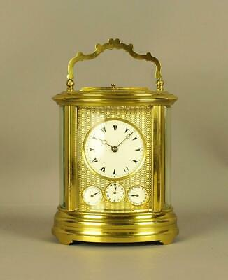 Rare Repeating Oval Carriage Clock With Calendar
