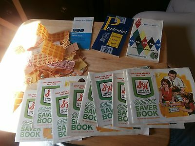 vintage green stamps lot books stamp S & H World huge collectible lot must see