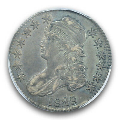 1828 50C Square 2, Small 8, Large Letters Overton 118 Capped Bust Half Dollar...