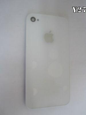New White iPhone 4 Battery Cover Back Glass Rear Door GSM CDMA at&t T-mobile