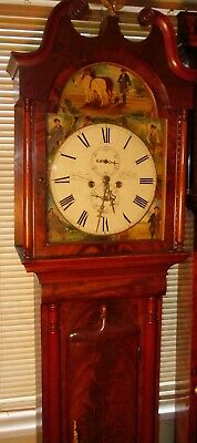 "Antique Scottish  ""Edinburgh""   8 Day  Longcase / Grandfather Clock"