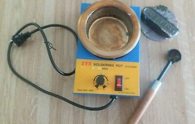 ZTX soldering pot 100mm Lead Free Solder Pot for Welding, Soldering, and Casting