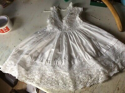 Early Victorian childs dress christening gown needs restoration