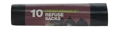 D2W Degradable Refuse 10 Sacks (Pack of 12)