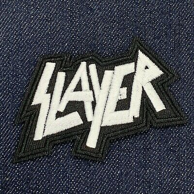 Slayer Trash Heavy Metal Band Logo Iron On Embroidered Patch Free Shiping