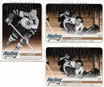"2011-12 Upper Deck Series One ""Hockey Heroes 1950s"" - Lot of 3 Cards"