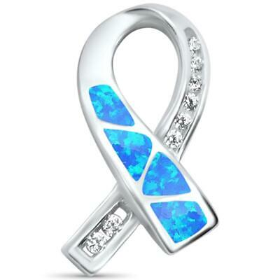 78c236a6cb65a 925 STERLING SILVER TEAL AWARENESS RIBBON CHARM Ovarian Cancer ...