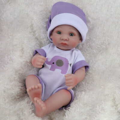 "10"" Lifelike Reborn Baby Doll Anatomically Boy Full Silicone Toy Birthday Gifts"