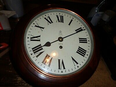 Vintage-English-Fusee Dial Clock-G.O.P. To Restore-#T550