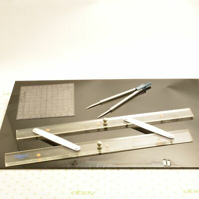 STAEDTLER Navigational Course Plotting 3 Piece Tool Set Parallel Rule Protractor