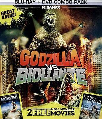 Godzilla vs. Biollante/Monster/Shark vs. Octopus (DVD, 2013)Rare, out of print
