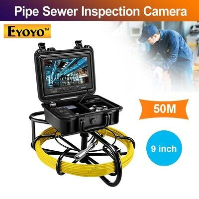 Eyoyo 50M Snake Drain Underwater Industrial Pipe Sewer Camera 9inch 1000TVL IP68
