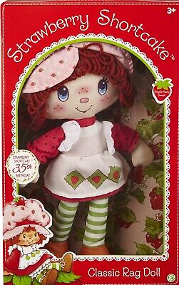 Stawberry Shortcake Classic Rag Doll Retro 1980s Reproduction Sweetly Scented