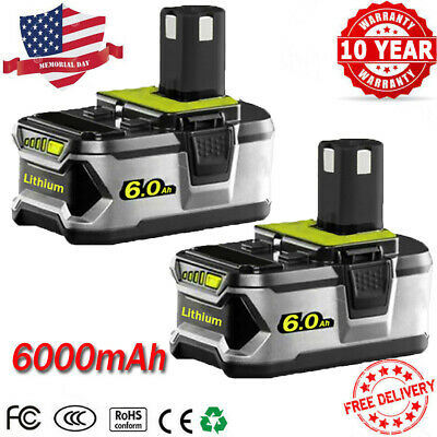 6.0Ah 18VOLT P108 Lithium-Ion High Capacity Battery for RYOBI ONE PLUS P104 P105