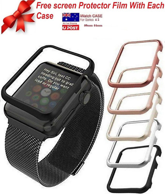 Apple Watch Series 4 5 iWatch 40 / 44mm Screen Protector Case + Free Screen Film