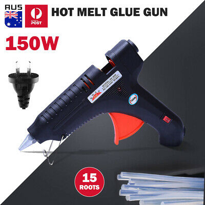 150w Trigger Electric Hot Melt Glue Gun Craft DIY Tool Kits +15x Adhesive Sticks