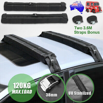 2 X Auto Car Roof Rack Soft Pads Kayak Surf  Luggage Storage Carrier Waterproof