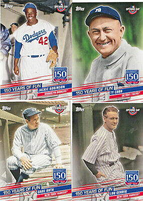 2019 Topps Opening Day Inserts 150 Years of Fun YOU PICK list/lot YOF-1 to 23