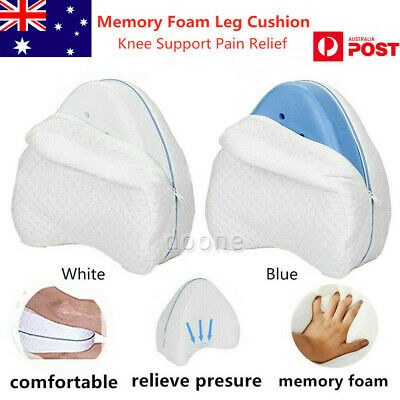 2019 Memory Foam Leg Pillow Cushion Knee Support Pain Relief Washable Cover AU