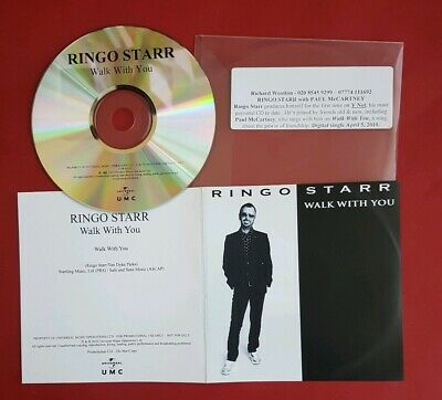 Ringo Starr UK promo CD single 2010 Walk with you featuring Paul McCartney