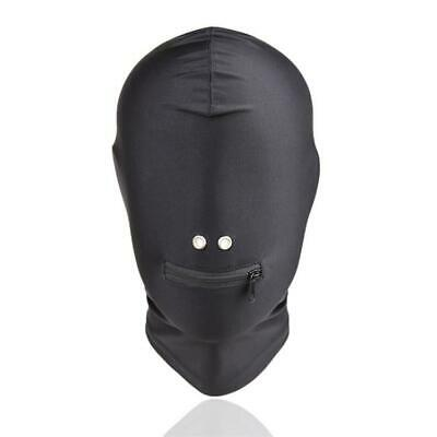 Zip Mouth Mask Spandex Stretchy Hood Bondage Costume party Cosplay UA660