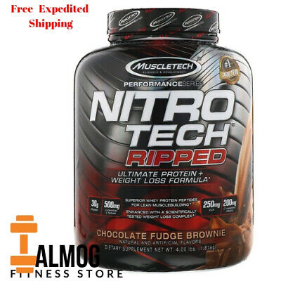 Muscletech, Nitro Tech Ripped, Ultimate Protein + Weight Loss Formula, Chocolate