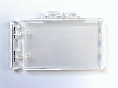 Permanent Card Holder Clear Hard Case ID Genuine Landscape