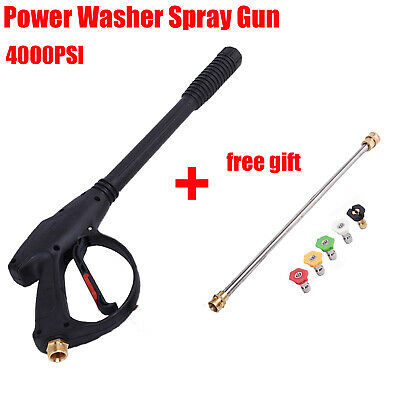 A++ 4000PSI High Pressure/Power Washer Spray Gun Wand/Lance&Nozzle Kit Gasoline