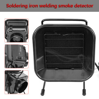 Black Soldering Solder Smoke Absorber Remover Fume Extractor ESD Air Filter Fan