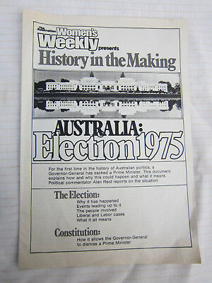 Australian Election 1975 The Dismissal Whitlam Fraser Collectable
