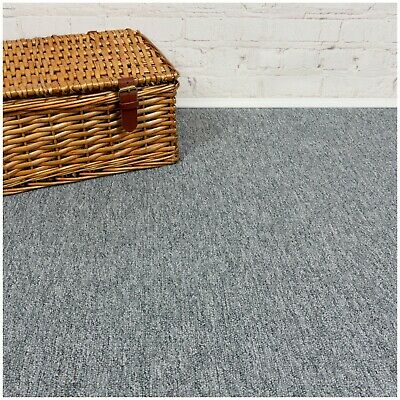 HARDWEARING CHEAP  Berber Loop Pile Felt Back Light Grey Carpet 5m Wide £3.99m²