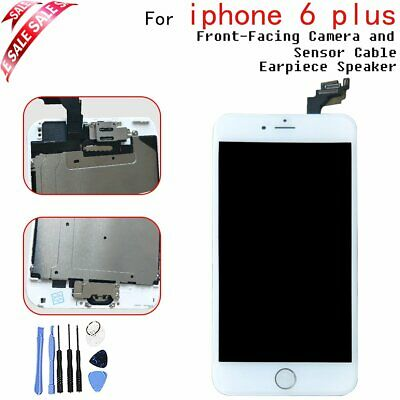 For iPhone 6 Plus White LCD Lens Touch Screen Digitier Display Button & Camera