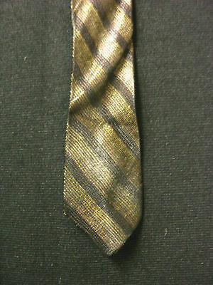Vintage 1950'S-1960'S Silk Very Narrow Striped Tie