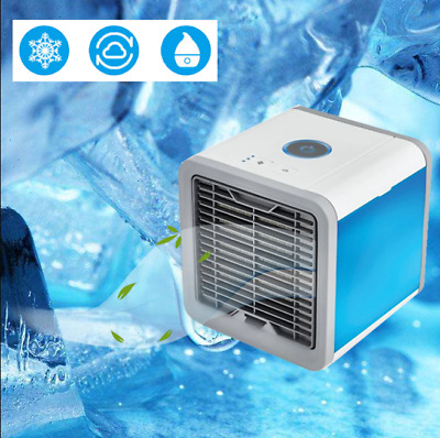 Artic Air Cooler Humidifier Purifier Colour Changing Led Fan Usb Gift Portable